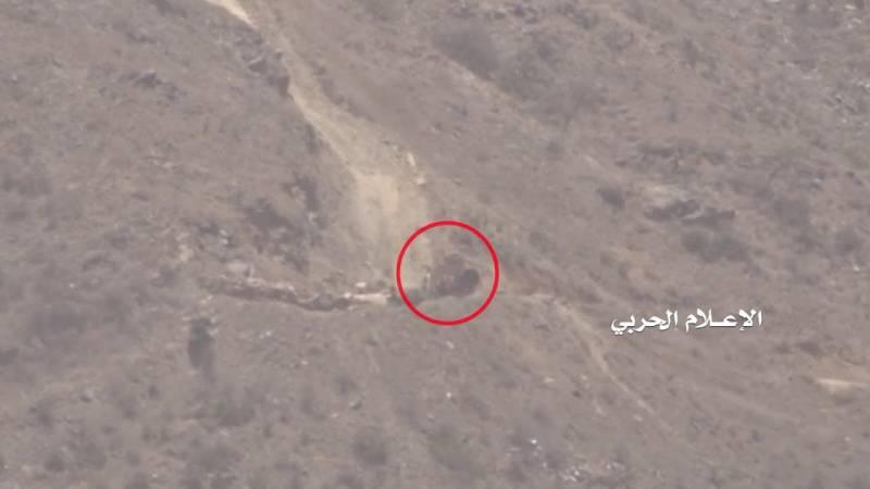 """Уничтожение хуситами танка """"Абрамс"""" на территории Саудовской Аравии."""