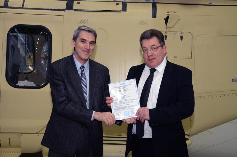 Компания HeliVert получила свидетельство АР МАК об одобрении производства гражданских вертолетов AW139.