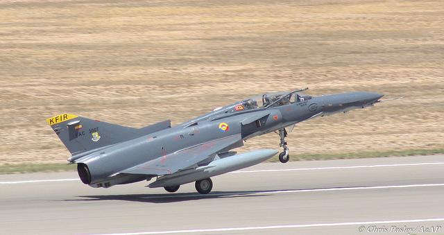 Истребитель Kfir ВВС Колумбии.