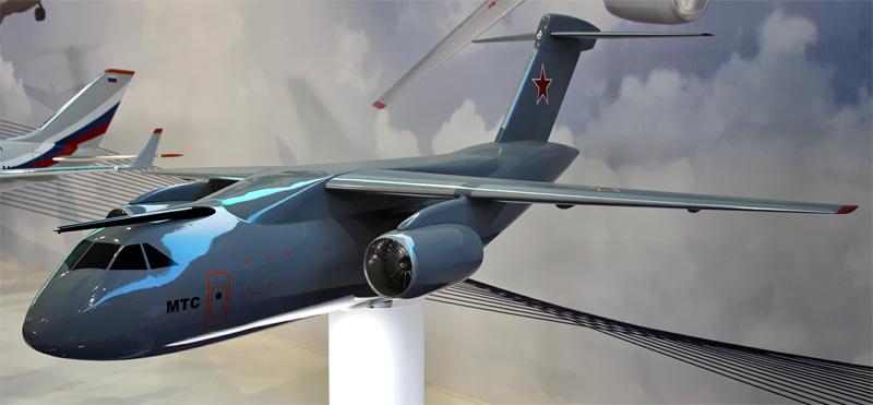 Модель Ил-214 / МТС на авиасалоне МАКС-2011, август 2011 г.
