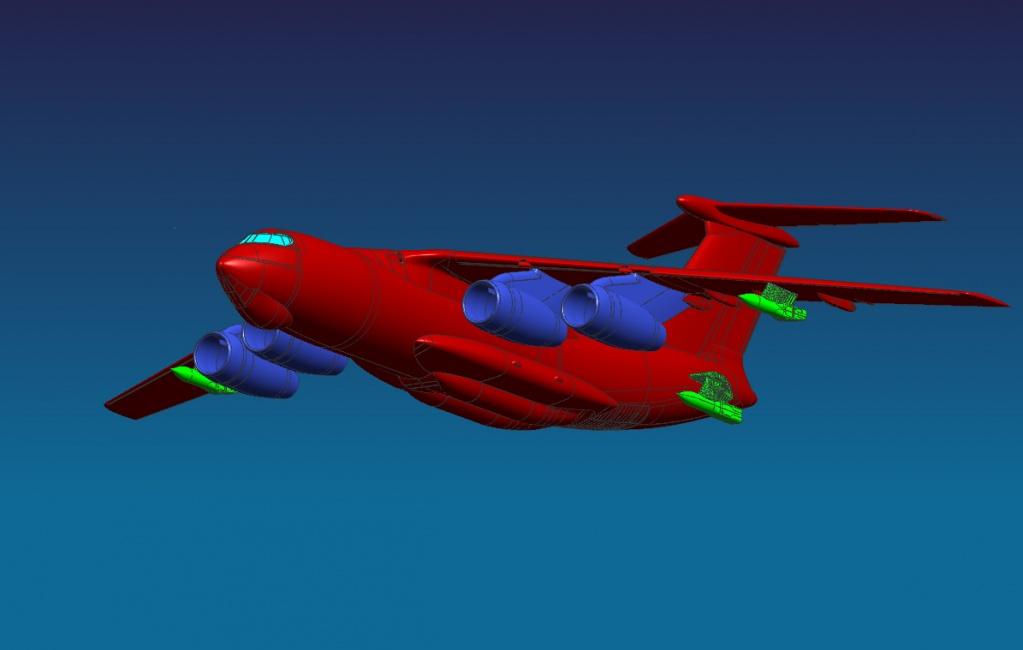 Проектное изображение самолета-заправщика Ил-78М-90А.