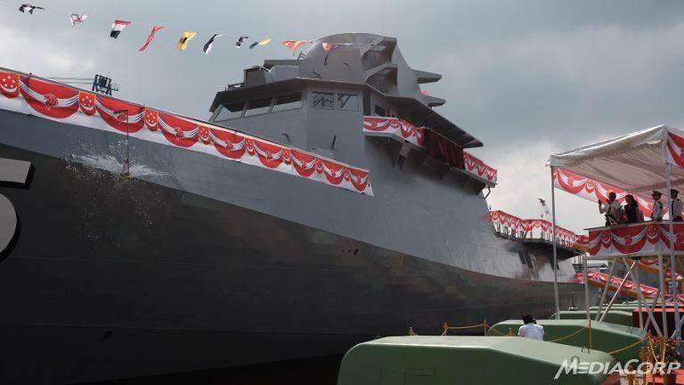 Головной прибрежный корабль Independence класса LMV (Littoral Mission Vessel) для ВМС Сингапура.