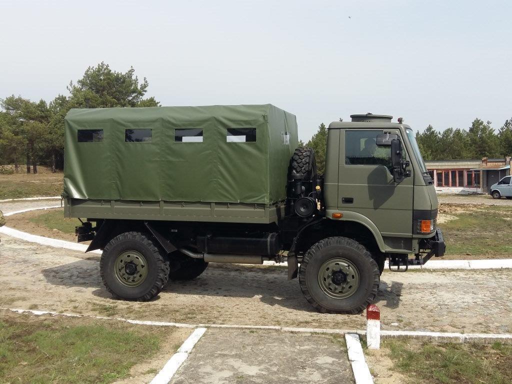 Индийский 2,5-тонный грузовой автомобиль Tata LPTA 713 TC с колесной формулой 4х4 на испытаниях в вооруженных силах Украины.