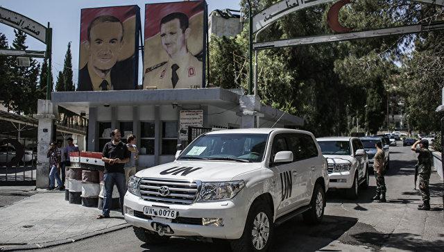 Инспекторы ООН по химоружию в Сирии. Архивное фото.
