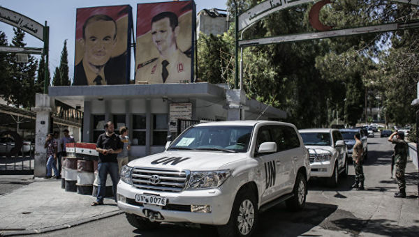 Инспекторы ООН по химоружию в Сирии. Архивное фото