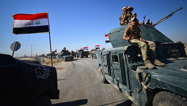 Иракские военные направляются к городу Киркук, Ирак. 16 октября 2017.