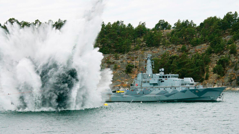 Испытания на взрывостойкость ТЩИМ ВМС Швеции.