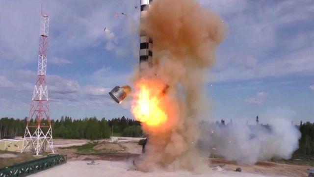 """Испытание баллистической ракеты """"Сармат"""""""