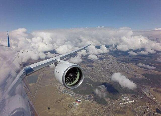 Испытания перспективного самолета МС-21