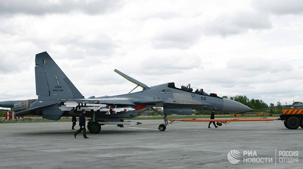 Истребитель Су-30МКМ, изготовленный по заказу ВВС Малайзии.