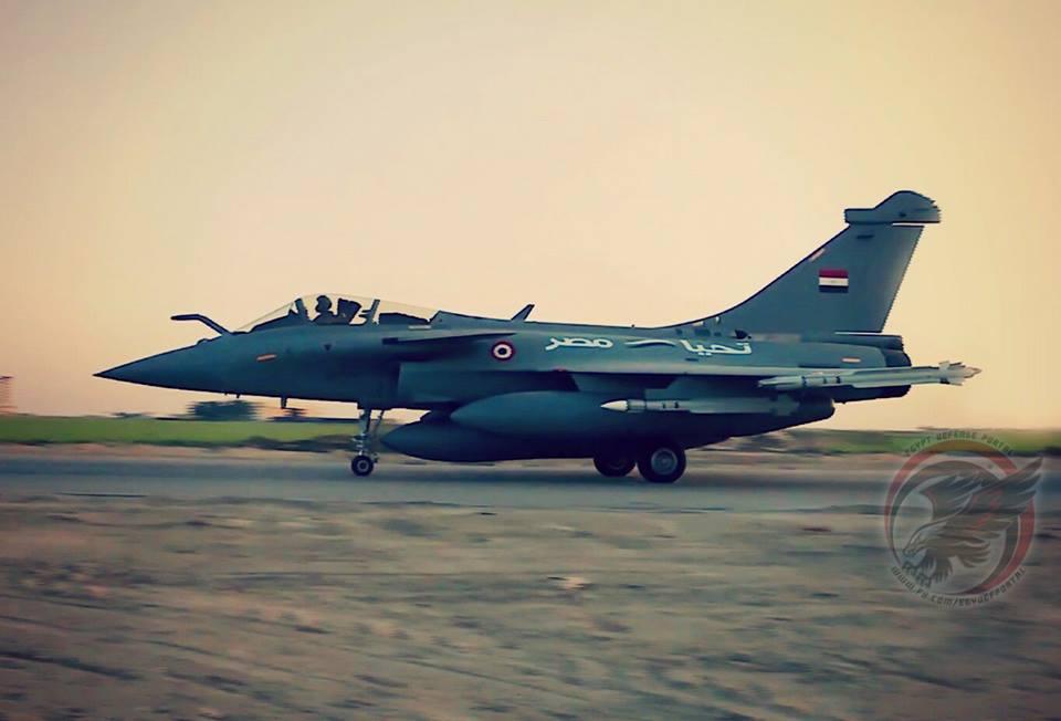 Истребитель Dassault Rafale ЕM ВВС Египта, 2017 год.