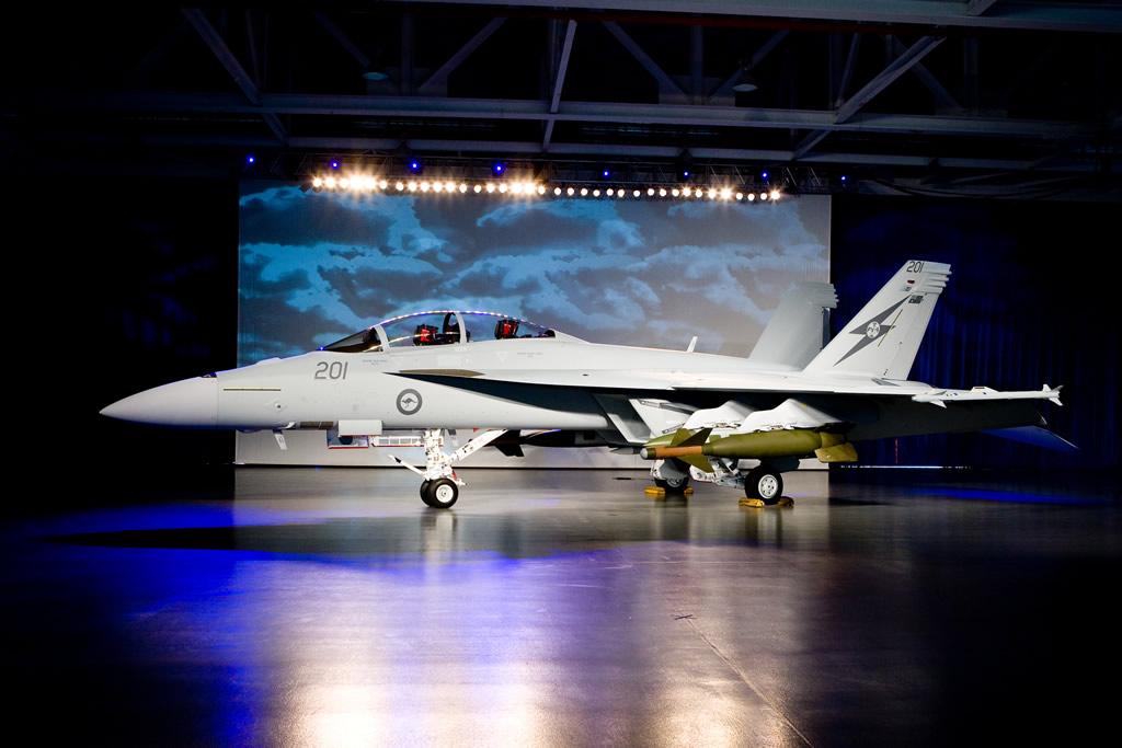 Истребитель F-18F Super Hornet ВВС Австралии.