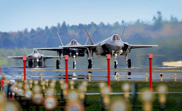 Истребитель F-35A Lightning.