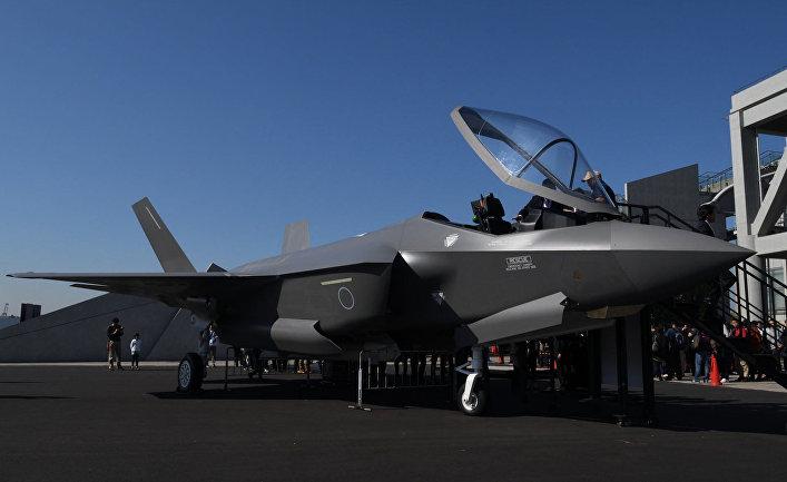 Истребитель F-35A Воздушных сил самообороны Японии.