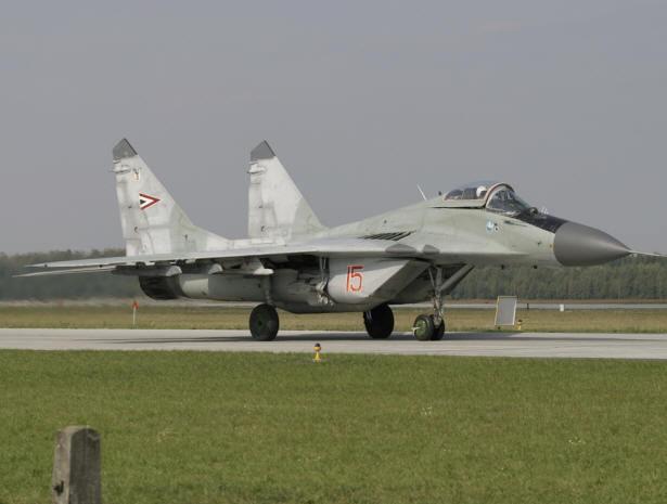 Истребитель МиГ-29 ВВС Венгрии.