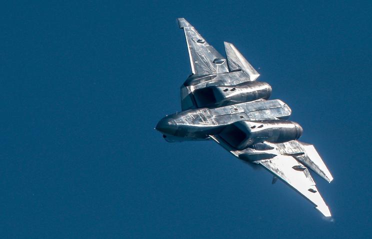 Истребитель пятого поколения Су-57.