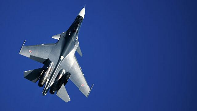 Истребитель Су-30СМ ВМФ России