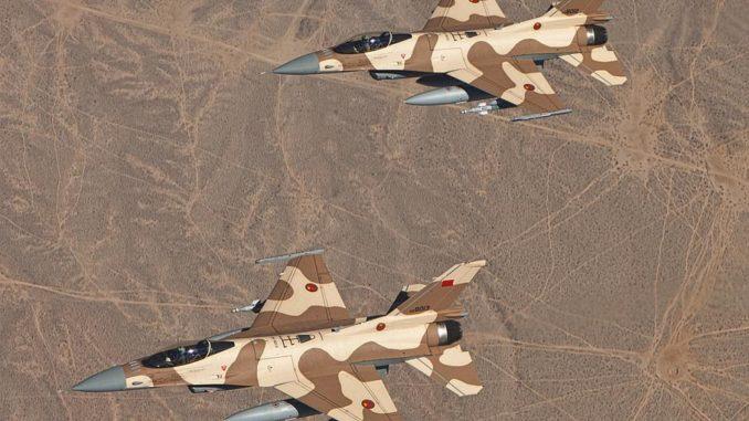 Истребители F-16 королевских ВВС Марокко