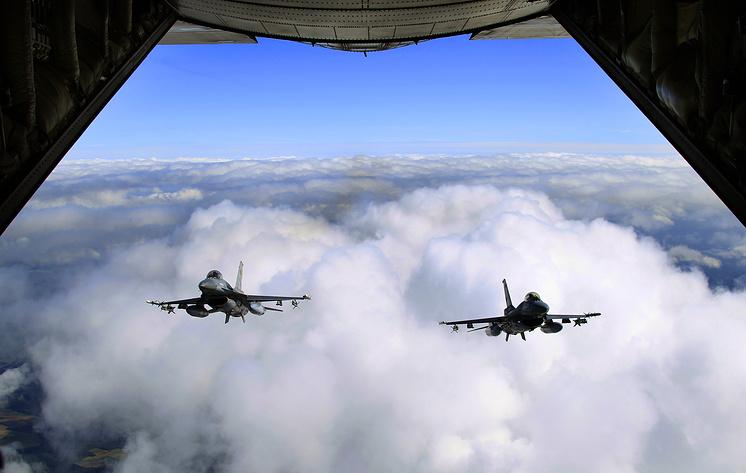 Истребители F-16 ВВС Бельгии.
