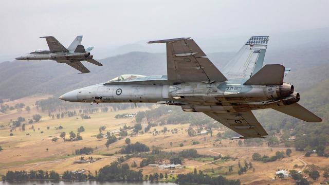 Истребители McDonnell Douglas F/A-18A/B Hornet ВВС Австралии