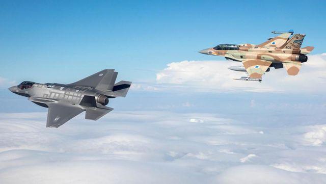 Истребители F-35 и F-16 ВВС Израиля