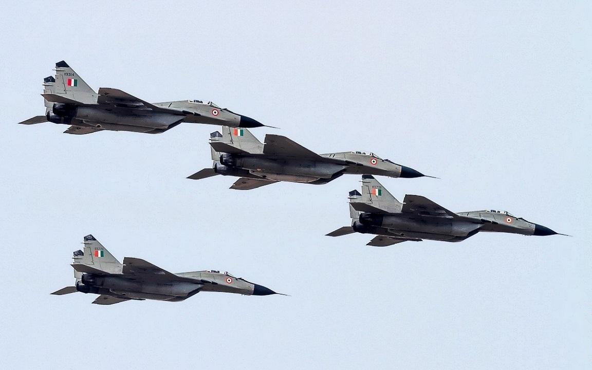 Истребители МиГ-29 ВВС Индии.