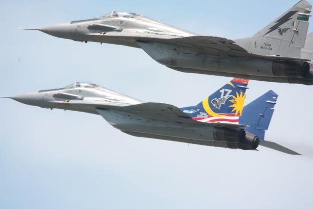 Истребители МиГ-29N Королевских ВВС Малайзии