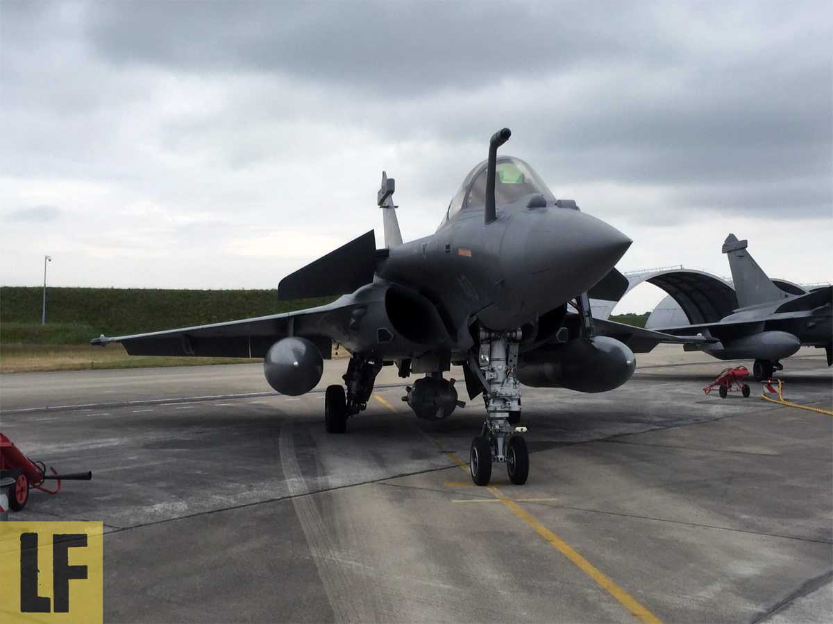 Истребители Rafale M флотилии 11F ВМС Франции.