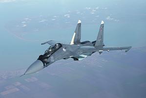 Истребители Су-30СМ существенно повысили возможности ПВО флота. Фото с сайта www.mil.ru