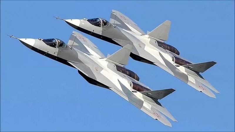 Истребители Су-57.