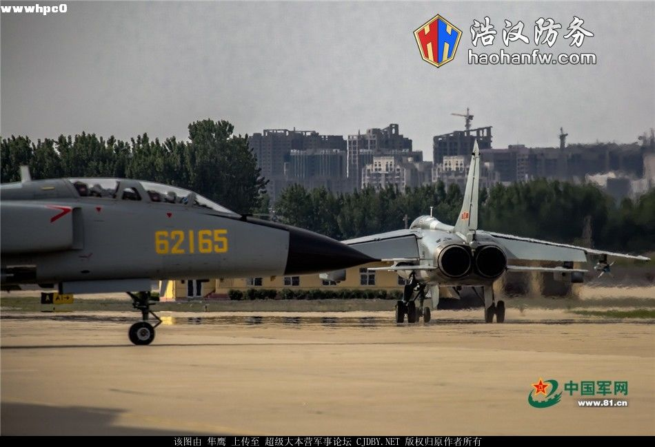 Истребители-бомбардировщики JH-7A авиации ВМС НОАК.