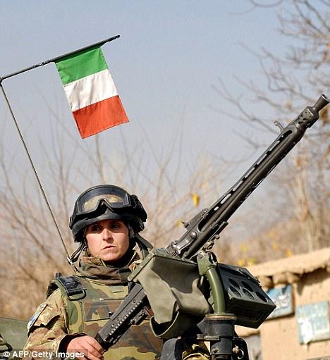 Военнослужащая ВС Италии