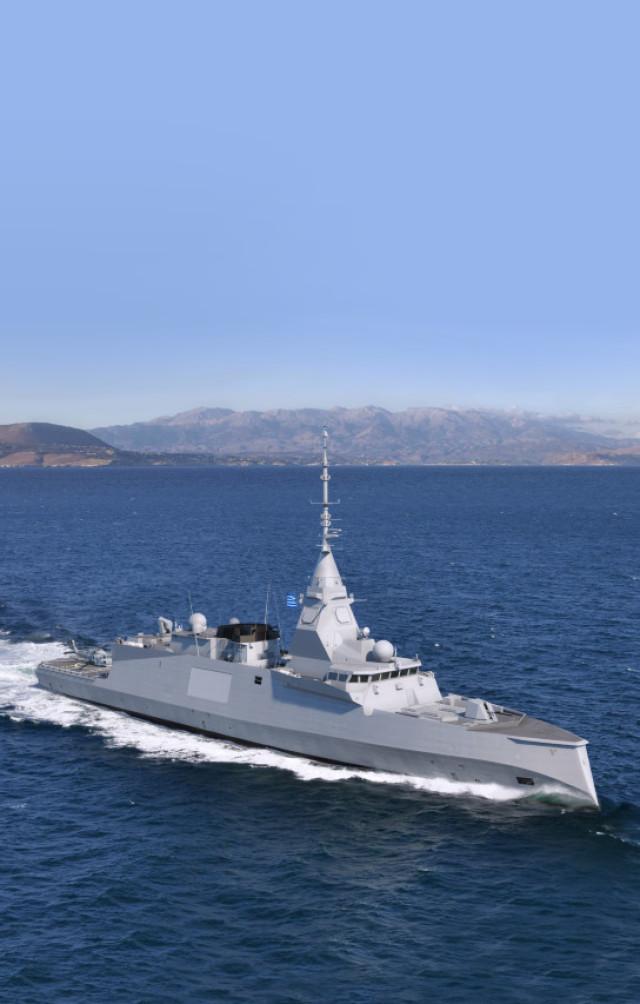 Изображение фрегата типа FDI HN для ВМС Греции
