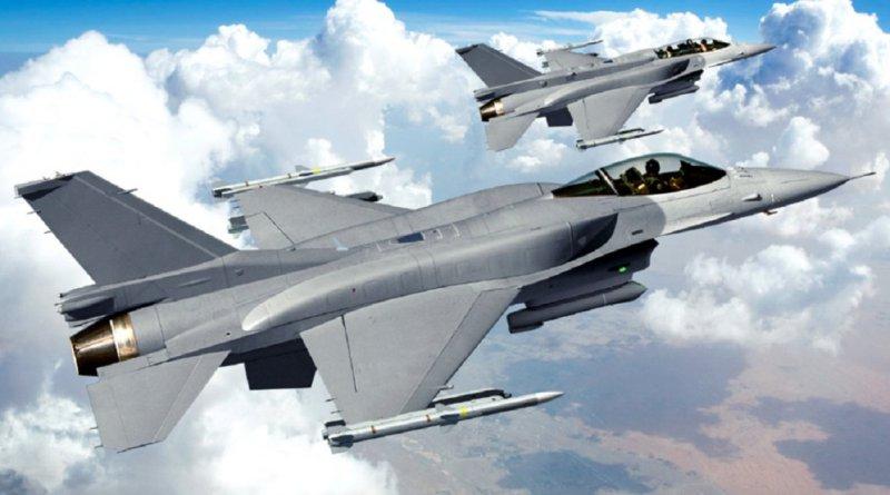 Изображение истребителей Lockheed Martin F-16V Block70/72.