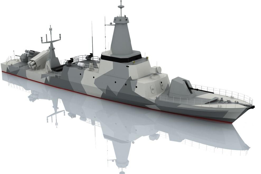 Изображение ракетного катера проекта Combattante FS 56 французской судостроительной группы CMN.