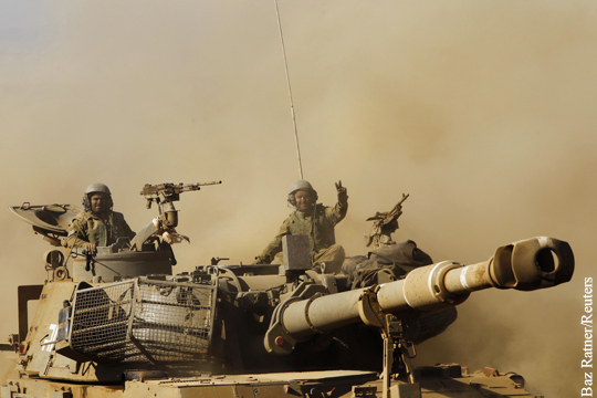 Израильский танк на территории Сирии.