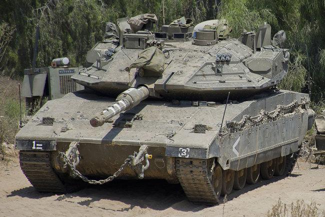Израильский танк Merkava Mk 4 Barak.