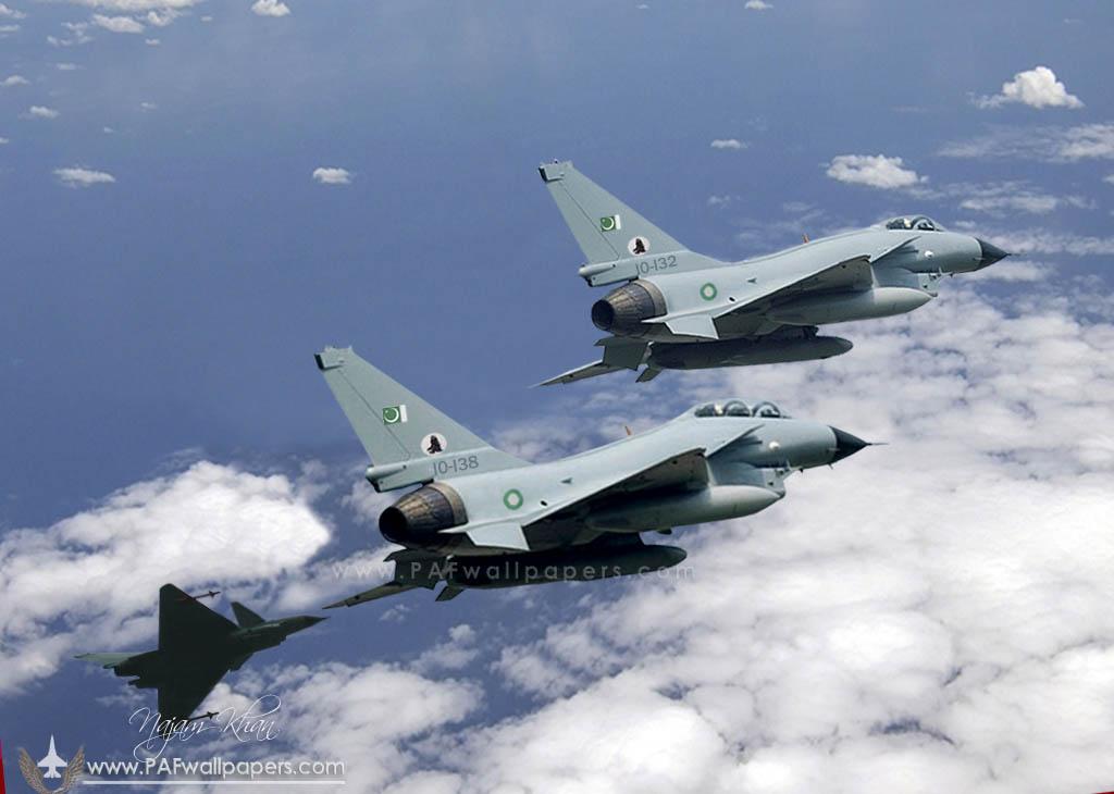 Предполагаемое изображение истребителей J-10 (FС-20) в цветах 25-й эскадрильи пакистанских ВВС.