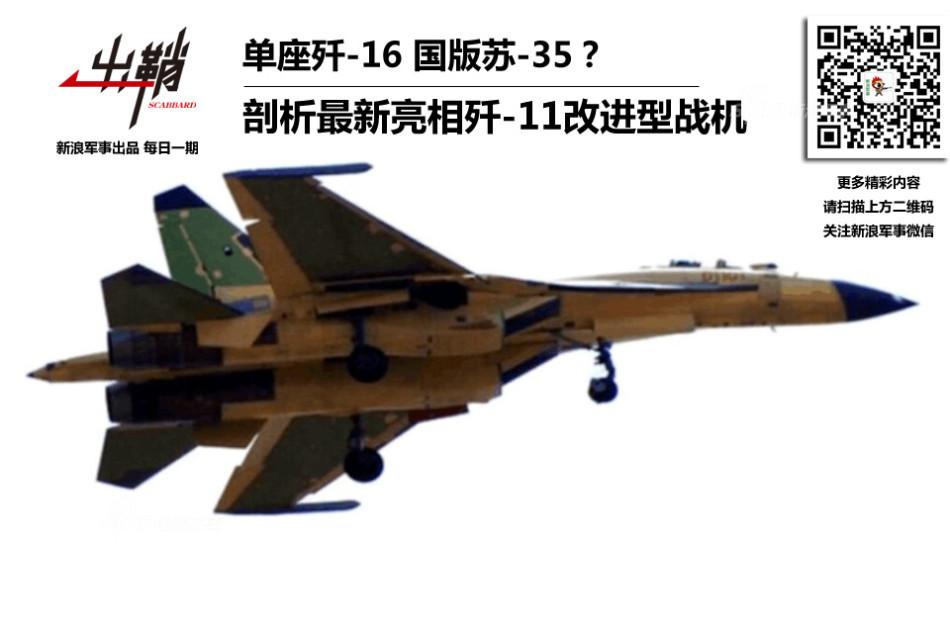 Опытный образец китайского истребителя J-11D (бортовой номер D1101).