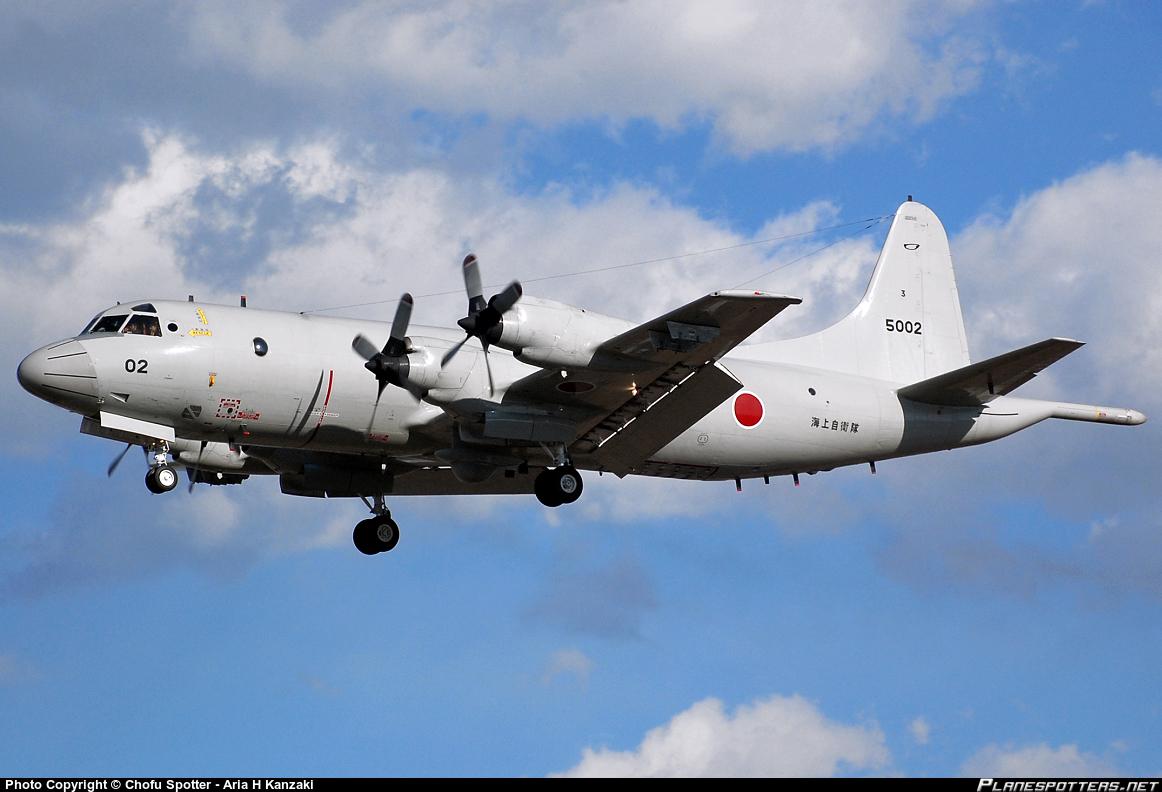 Самолет патрульной авиации P-3C «Орион» Сил самообороны Японии.