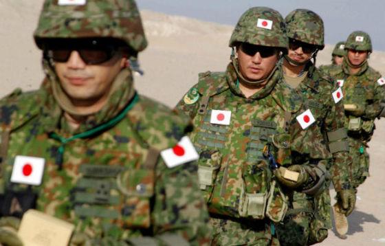 Военнослужащие ВС Японии