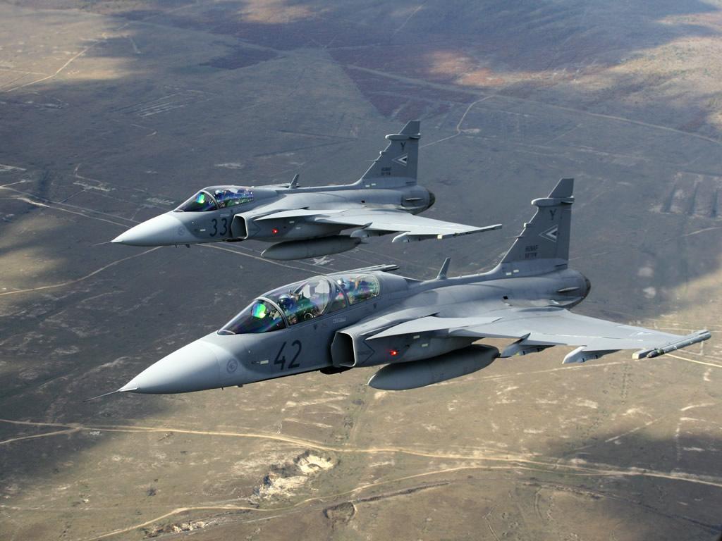 Обои истребитель, gripen, многоцелевой, Saab jas 39. Авиация foto 12