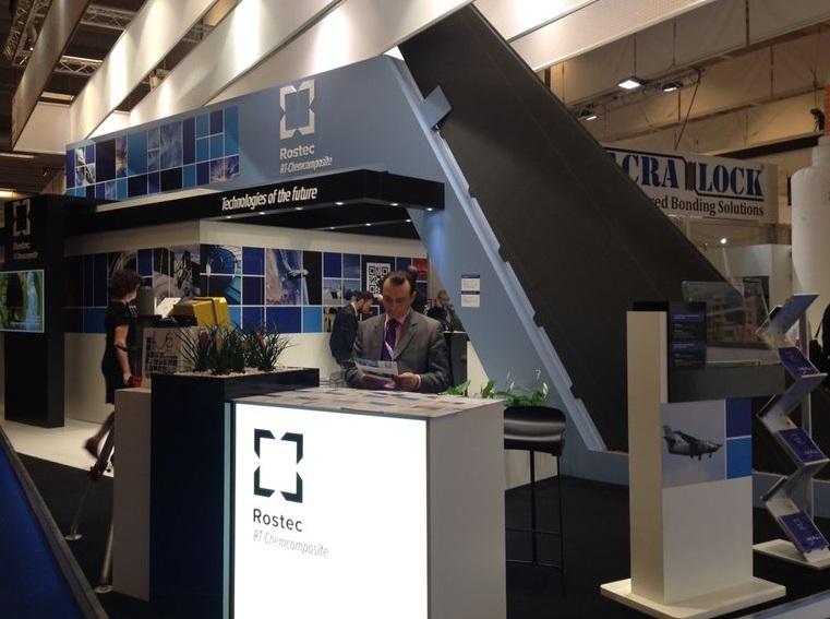 Стенд холдинга «РТ-Химкомпозит» на международной выставке композитов JEC Composite Show 2014 в Париже.