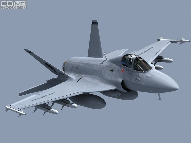 Рисунок предполагаемого стелс-варианта самолета JF-17.