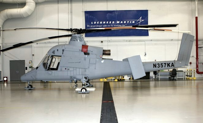 Опционально пилотируемый вертолет К-Мах.