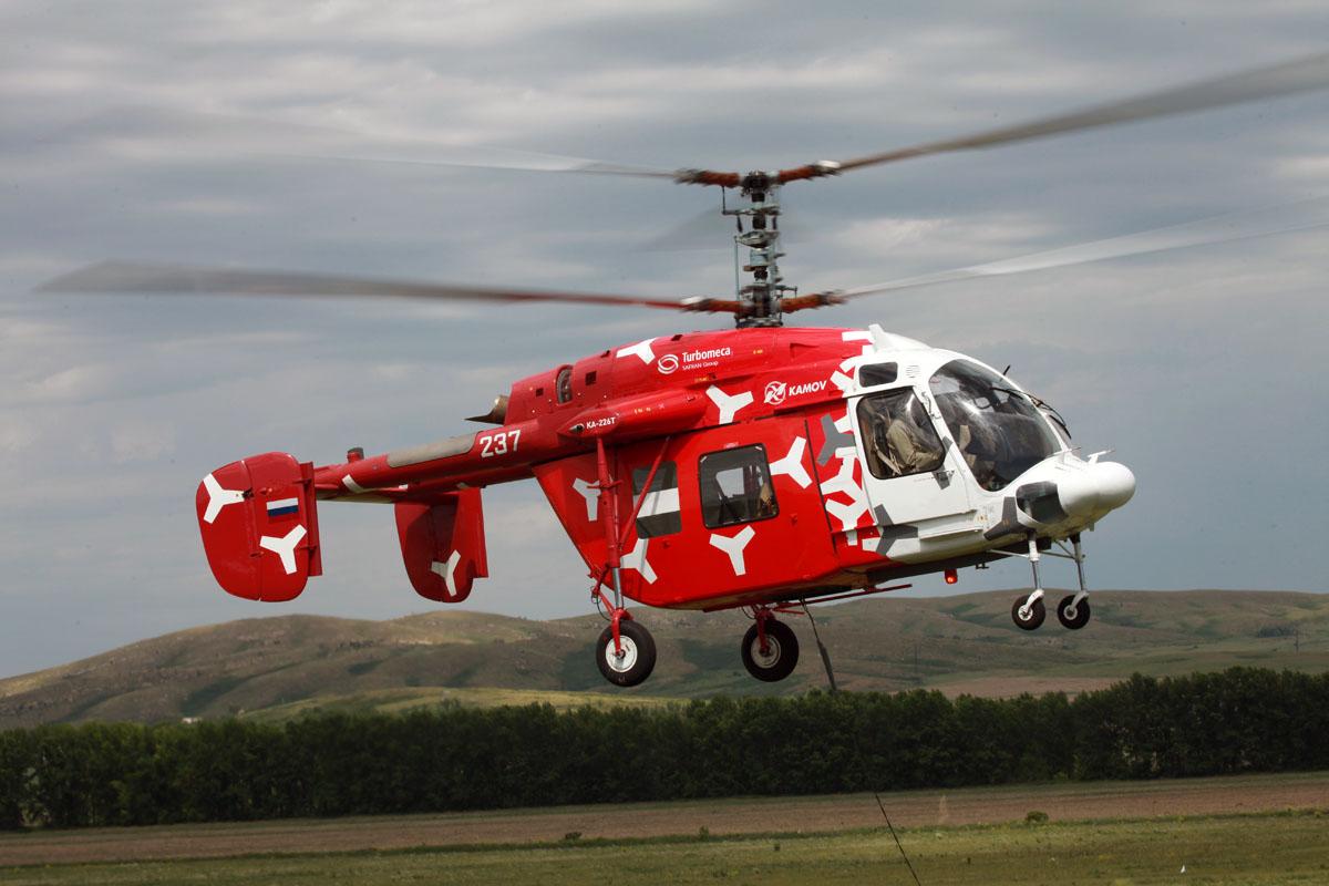 Многоцелевой вертолет легкого класса КА-226Т.