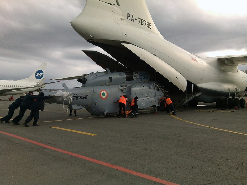 Отремонтированный КумАПП Ка-31 для Индии.
