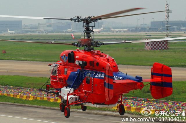 """Вертолет Ка-32А11ВС (бортовой номер """"31006"""") пожарной охраны Шанхая (Народной вооруженной полиции КНР). Пудун (Шанхай), июнь 2014 года."""