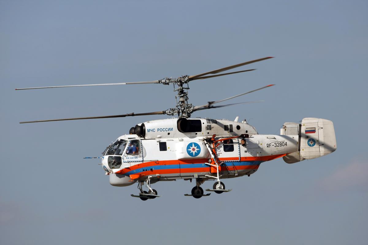 Средний вертолет Ка-32А11ВС МЧС России с медицинским модулем