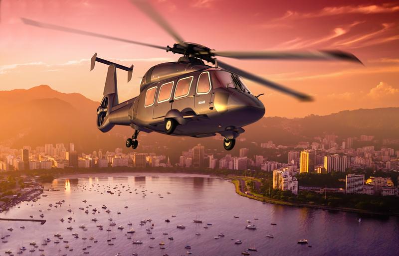 Многоцелевой гражданский вертолет Ка-62.